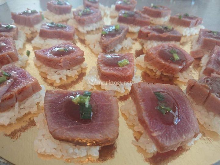 Mi cuit de thon