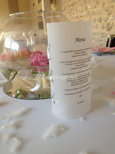 Vase boule et menu photophore