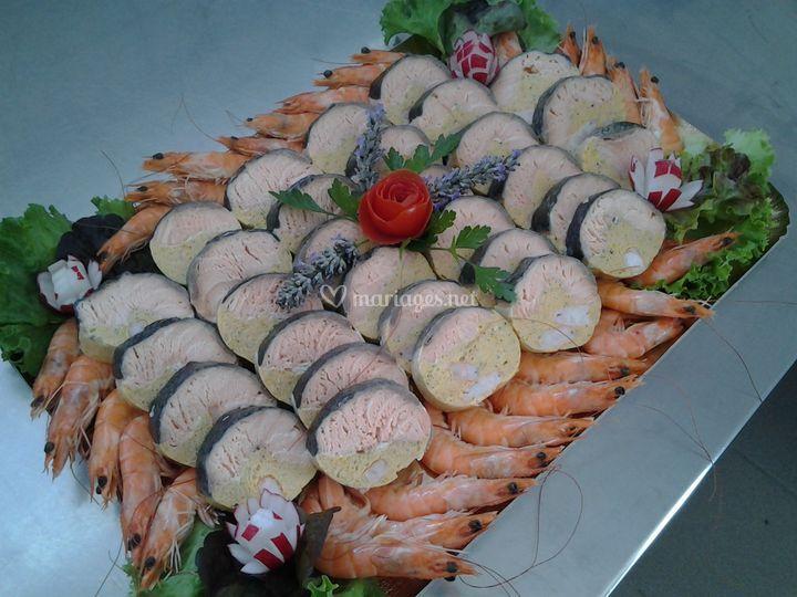 Saumon Bellevue  en buffet