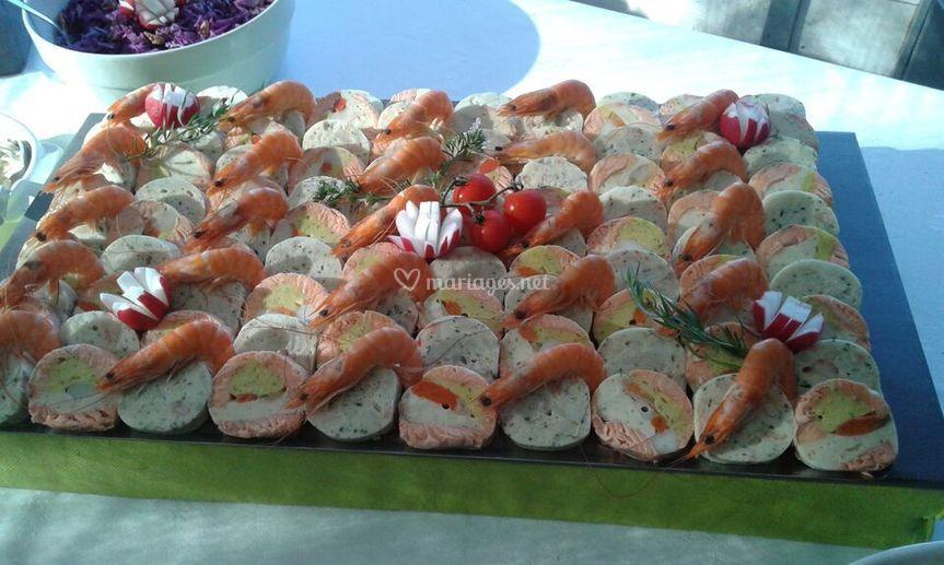 Ballotin de poisson en buffet