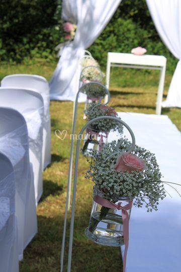 Décoration florale d'allée
