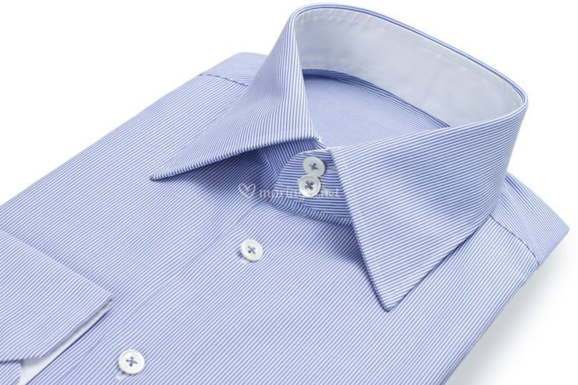 Chemise bleue sur-mesure