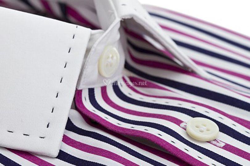 Chemise sur-mesure à rayures