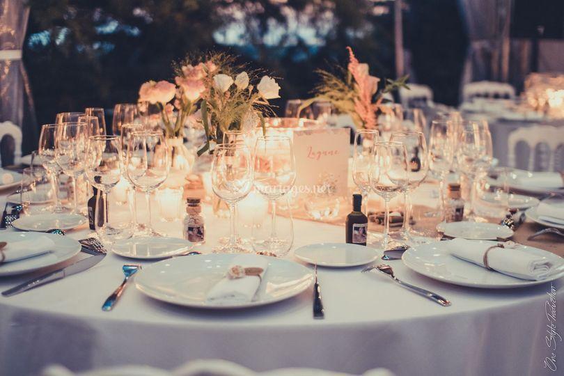 Table élégante et romantique