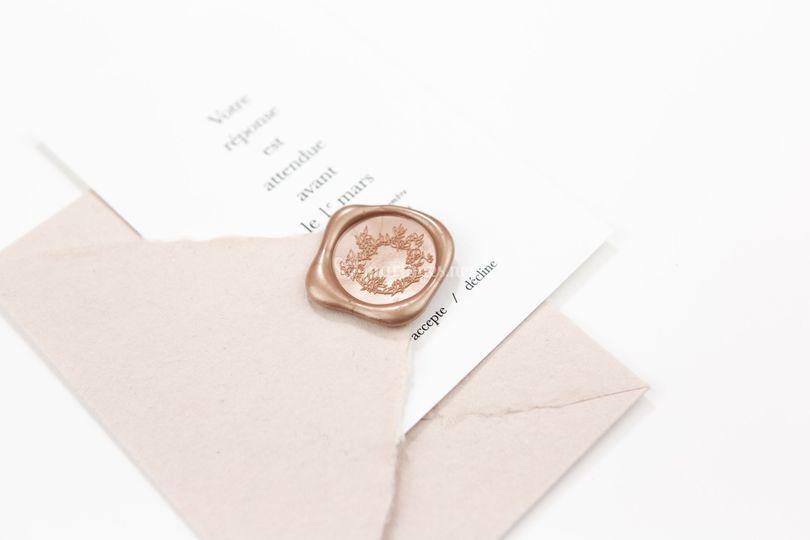 Enveloppe & cachet de cire