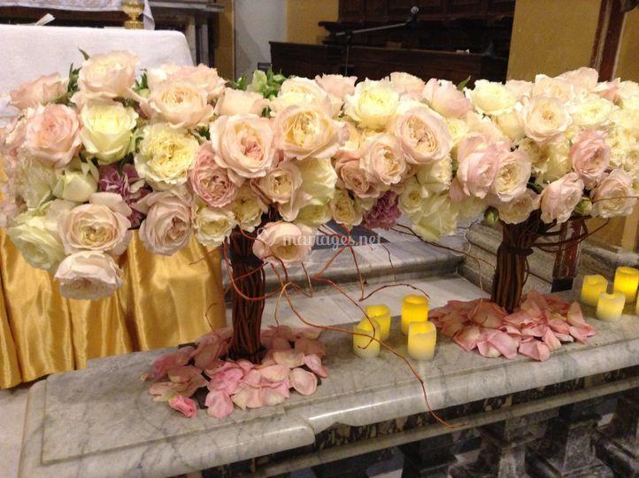 Autel d'eglise fleurie