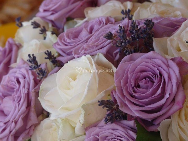 Bouquet thème lavande