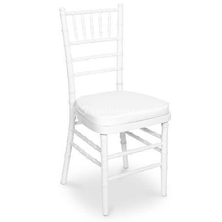 Location chaise chivari blanc