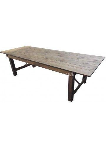 Location table bois massif