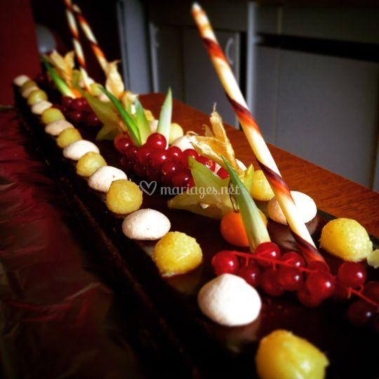 Chocolat-combava-ananas rôti