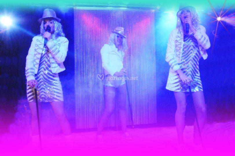 Soirée dansante disco(chant li