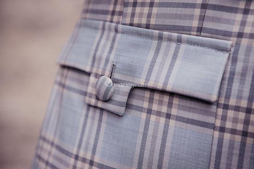 Détail de poche plaquée