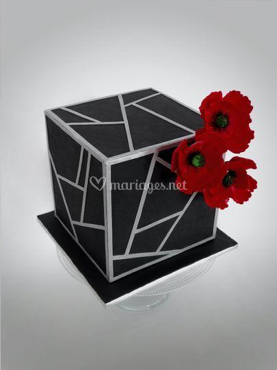 Wedding cake géométrique