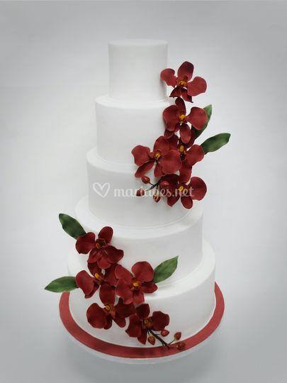 Wedding cake printanier