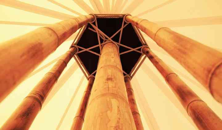 Détail mât bambou