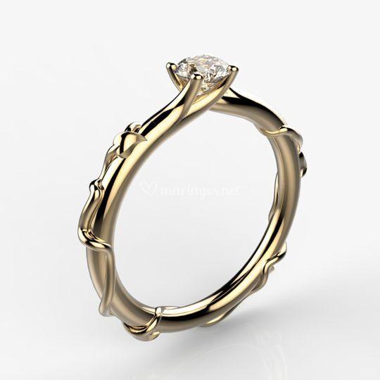 Fiançailles diamant éthique