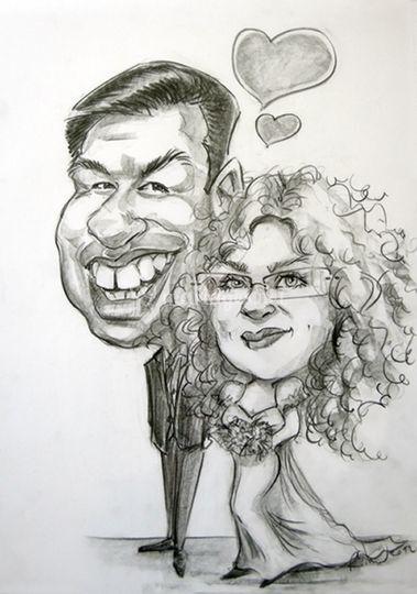 Caricature mariés