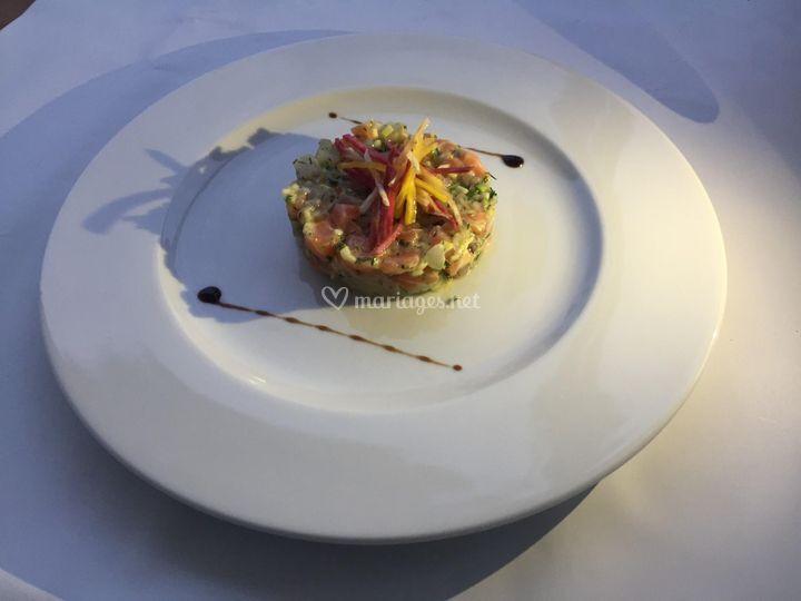 Ceviche de dorade et saumon
