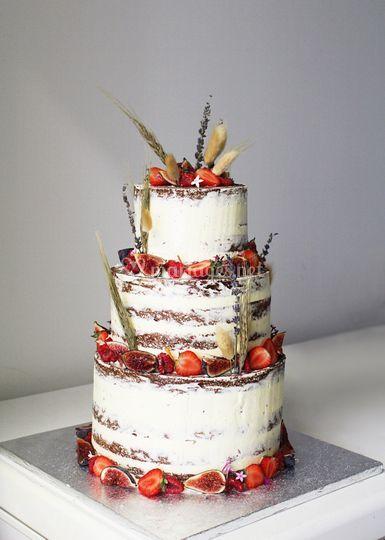 Naked Boheme Wedding Cake