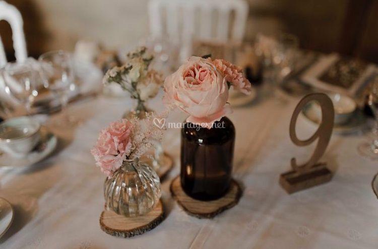 Vase et flacon apothicaire