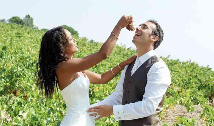 Jeu dans les vignes à Colioure