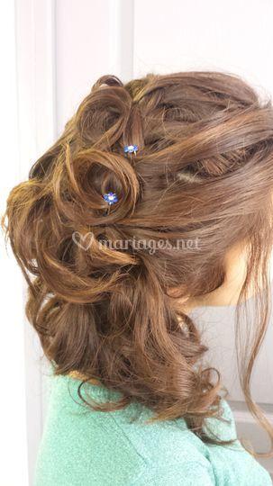 Invitée coiffure bohème