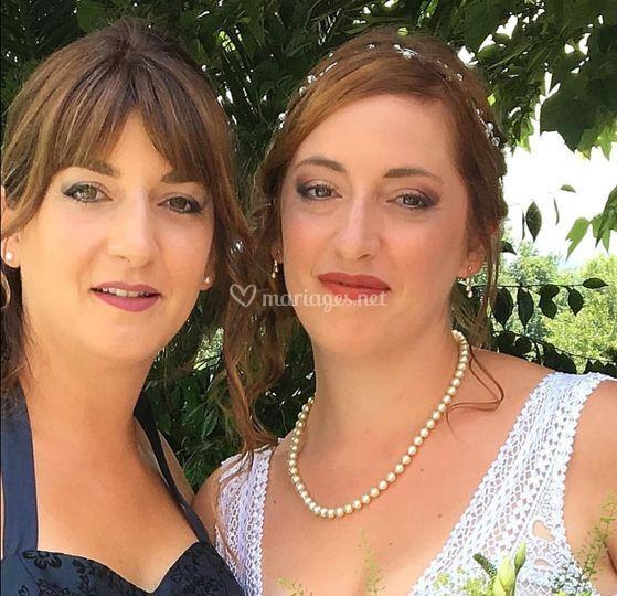 Mariée et sa sœur à Orthez