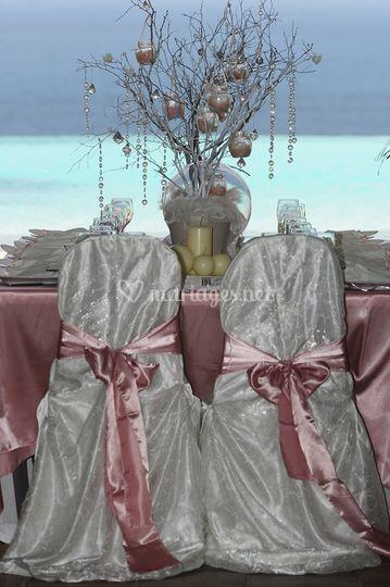 Mariage - table (détail)