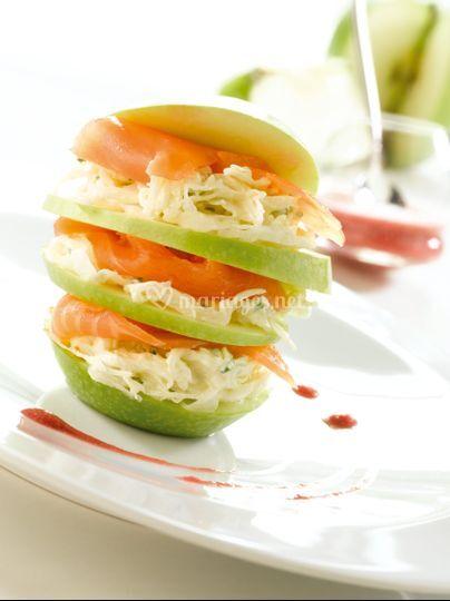 Pomme et Saumon façon Hamburger