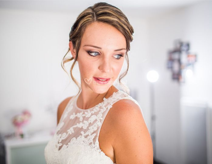 Preparatifs mariée robe