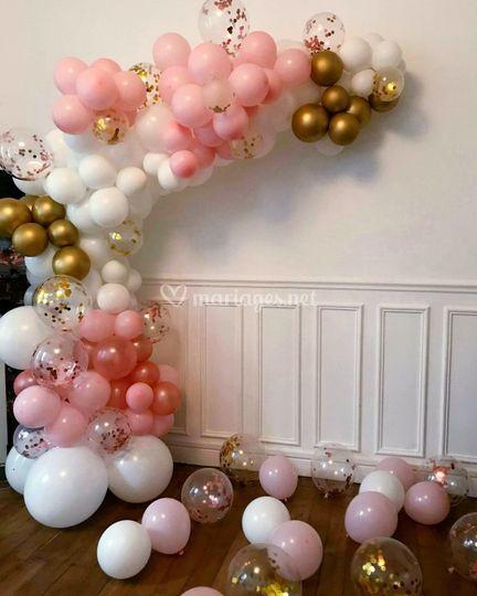 Ballon organique paillettes
