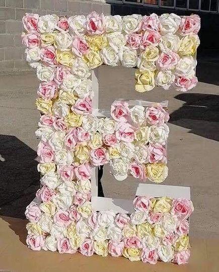 Lettres fleurs