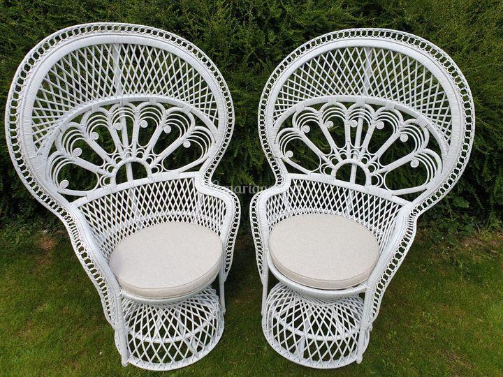 2 fauteuils mariage, cérémonie