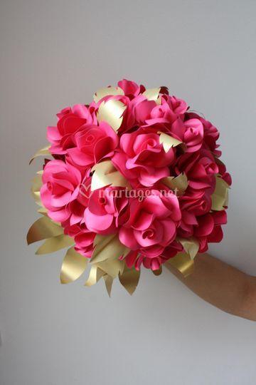 Bouquet de rose en papier