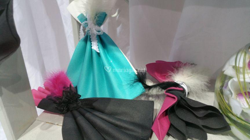 Pliage serviette robe