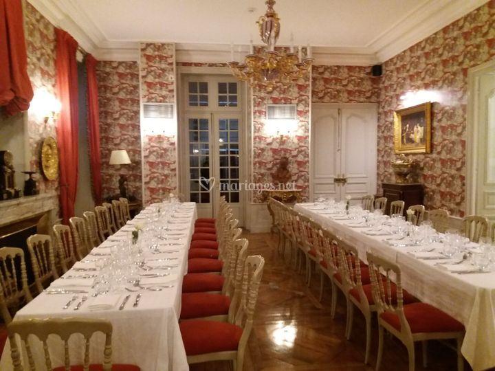 Salon 1 dressé en banquet