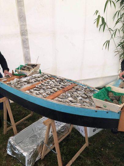 La barque d huitres