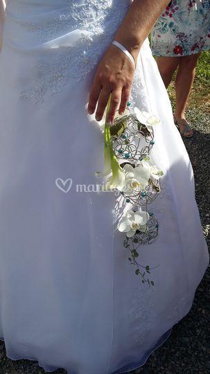 Bouquet sur base fil bonzai