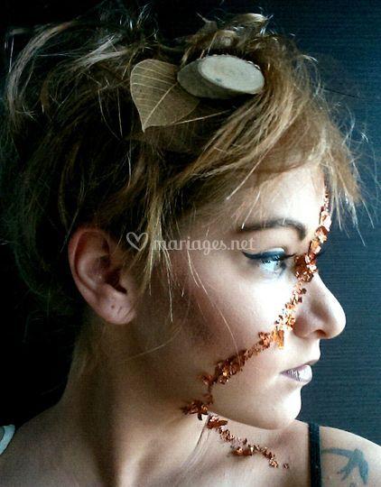 Maquillage reine de la forêt