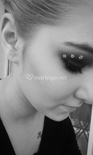Smoky girly eyes noir et blanc