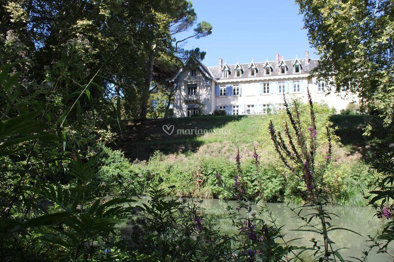 Vue sur le château (voie verte