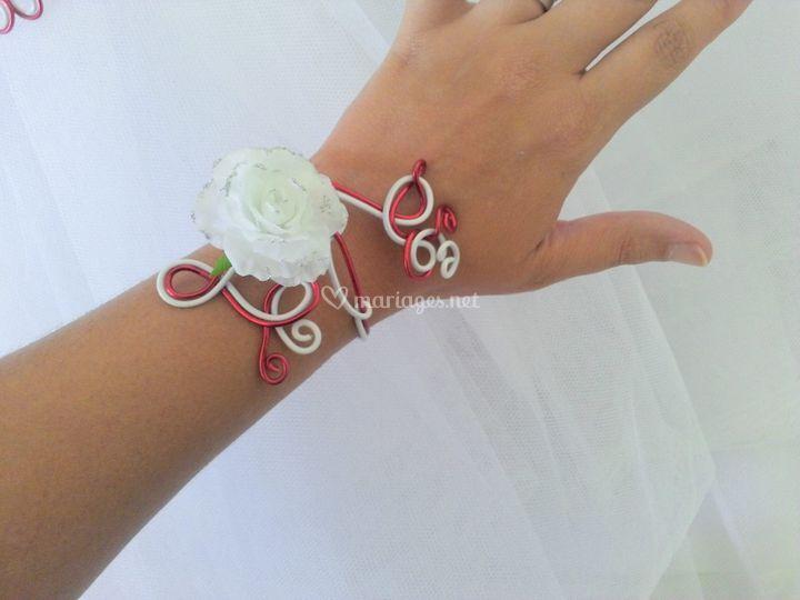 Bracelet thème rose
