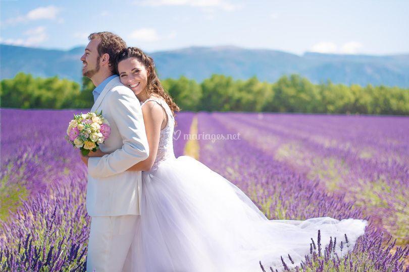 Un mariage dans les lavandes