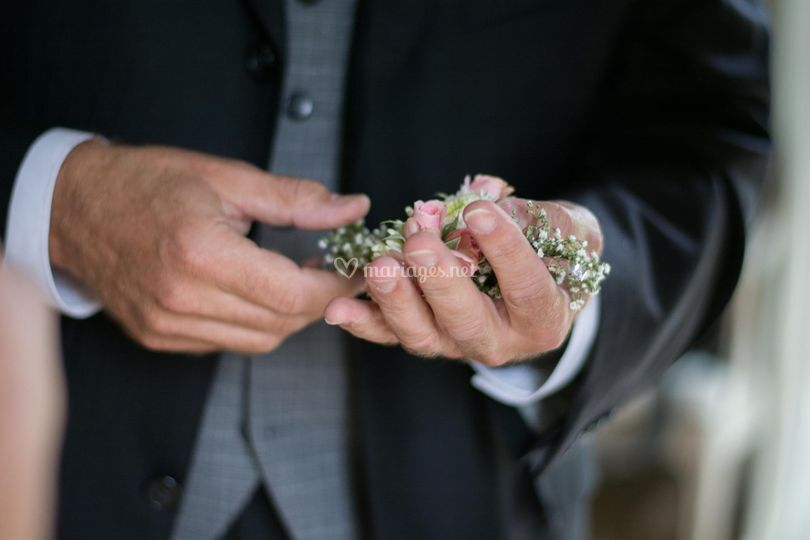 La boutonnière fleurie
