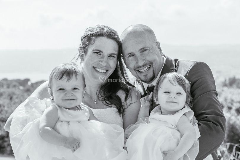 Les mariés et leurs enfants