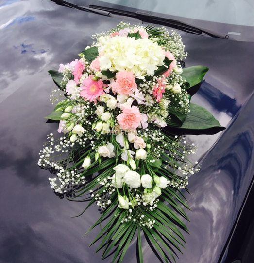 Décoration Floral Rose Clair