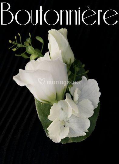 Des fleurs pour le marié