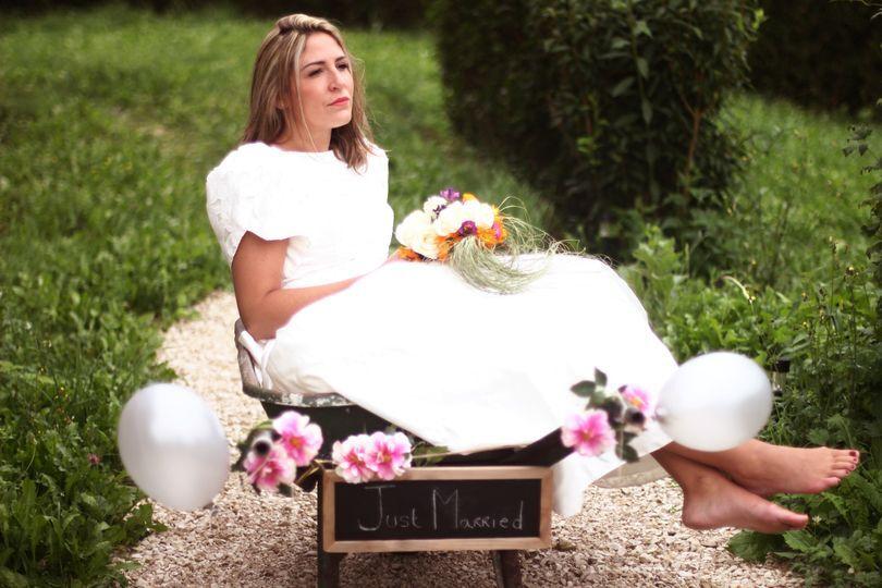 Mariée champêtre