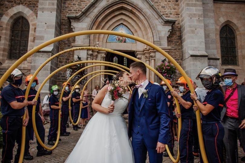 Mariage de pompier