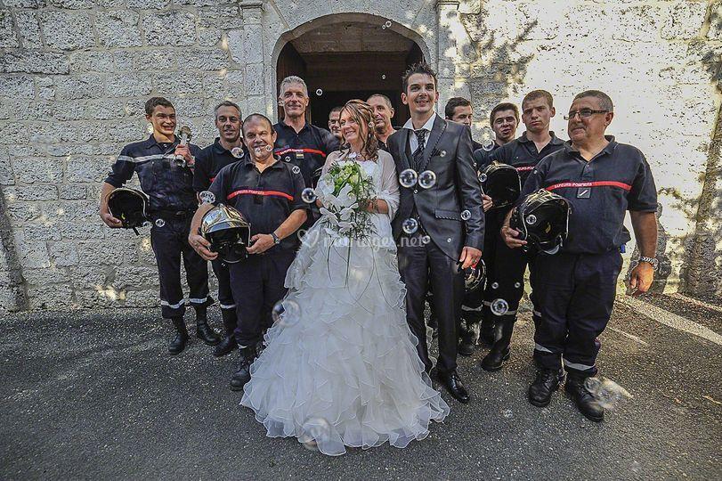 Les collègues et la mariée
